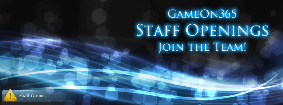 GameOn365 Staff Openings - Join the Team!